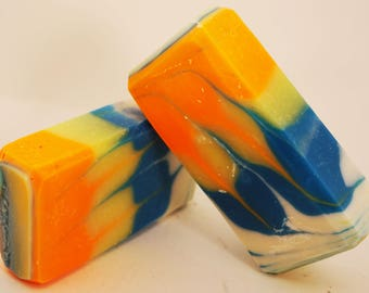 Electric Swirl Artisanal Soap