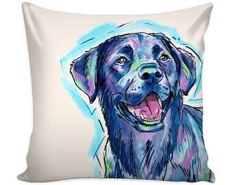 Black Labrador Retriever Pillow Cover