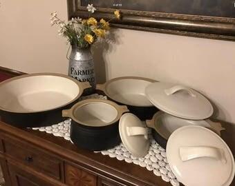 Franciscan Gourmet Cookware Casserole Set~ 7 pieces