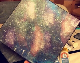 Galaxy Glow in the Dark Painting