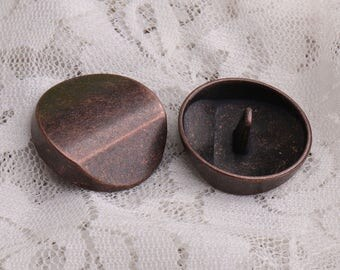 25*9mm 10pcs edgefold metal buttons large round buttons copper button for coat