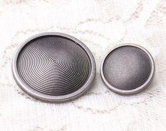 metal buttons scroll buttons 10pcs 23*8/15*7mm round buttons light black buttons shank button for coats