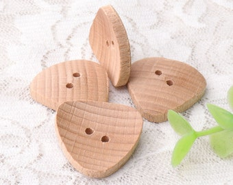 triangle buttons wooden buttons 10pcs 25mm 2 holes sewing wood buttons for coat shirt natural wood buttons