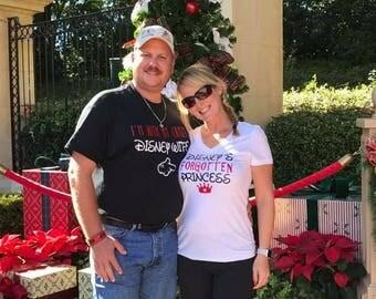 Couples Disney Shirts, Disney's forgotten princess, crazy Disney wife, matching couples Disney shirts, Disney couples vacation shirts