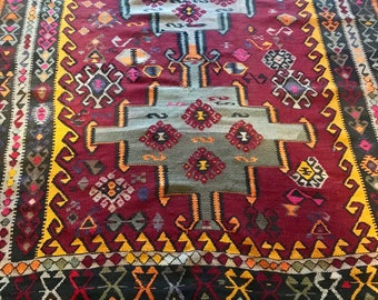 Antique Handmade Armenian Kilim from 1761