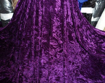 Dark purple ice crush  stretch velvet, price 1 meter