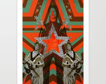 STARMAN ~ Digitally Illustrated Collage of David Bowie
