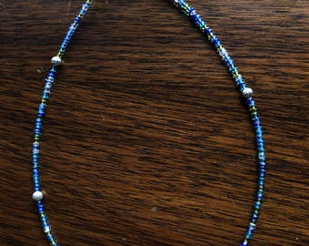 Blue/Silver accent Necklace