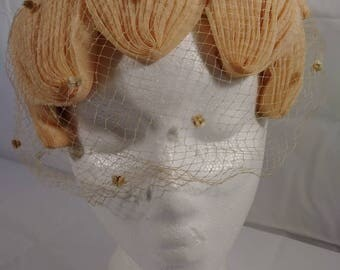Vintage Union Made Womens Small Hat With Veil