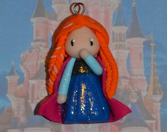 Born in polymer clay representing Anna - Disney Princess Collection - handmade jewelry