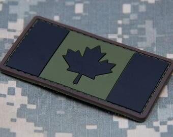 Canadian Flag Patch PVC
