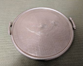 Vintage Aluminum Serving Tray and Plate
