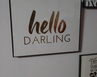 Hello darling wall decor