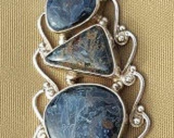 Pietersite pendant 925 silver
