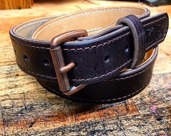 Handmade Leather Casual Leather Belt / Havana