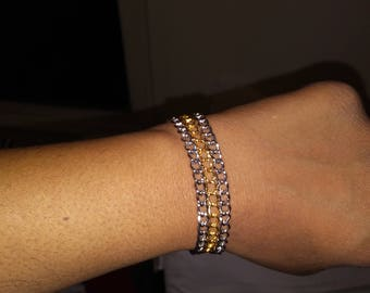 Men's silver and gold bracelet