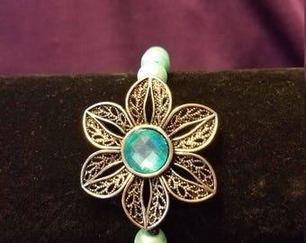 Flower 2-piece Necklace & Bracelet set