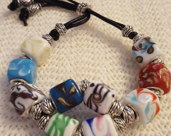 Square beads marble