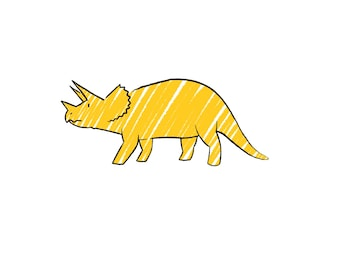 Niallycat Triceretops Dinosaur A3 Print