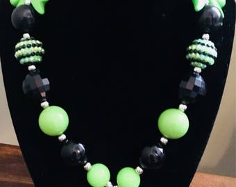 Chunky Maleficent Gumball necklace