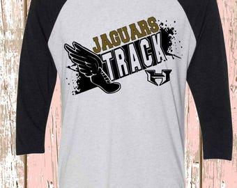 Jaguars Track Raglan Shirt  Track and field