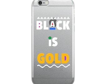 Black is Gold iPhone Case