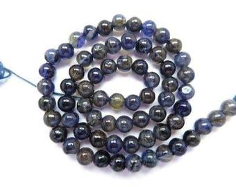 "50% OFF FREE SHIPPING Iolite Beads Natural Iolite Gemstone 6Mm Smooth Round Beads 13"" Strand -Av15"