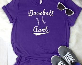 Baseball Aunt Women's T Shirt UNISEX Bella Canvas Soft Style Motherhood #momlife ladies shirt mom life sports mom