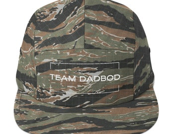 Team DadBod Embroidered Camouflage Five Panel Cap
