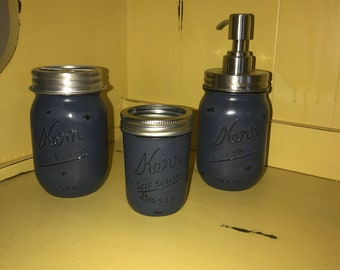Navy Blue 3 pc bathroom set
