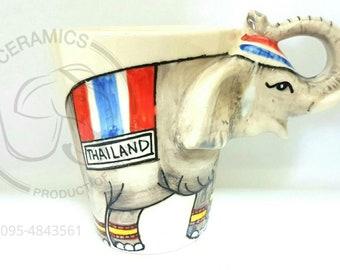 3D Thai Elephant Ceramic Mug (Type 12)
