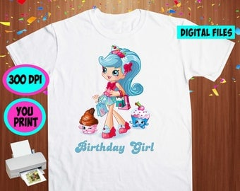 Shopkins. Iron On Transfer. Shopkins Printable DIY Transfer. Shopkins Girl Shirt DIY. Instant Download. Digital Files Only.