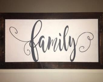 Handmade Family Sign