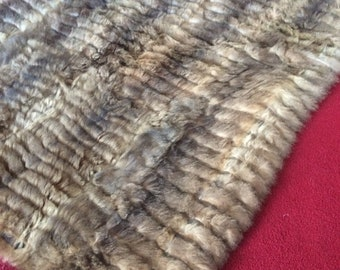 POSSUM FUR THROW