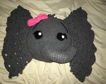 Crocheted Elephant pillow