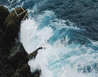 Ocean Rocks, Instant Download
