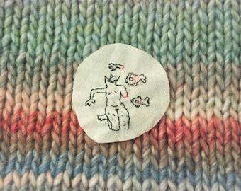 Arm float cross stitch design
