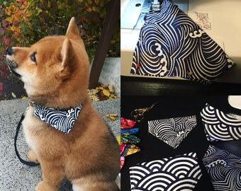 Shiba dog Bandana in Japanese pattern x2pcs