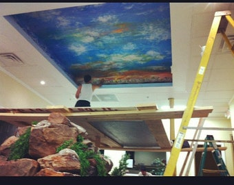Ceiling and Wall Murals Commission Work