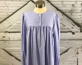 Size 12 & 14--Girl's Brushed Cotton Gown