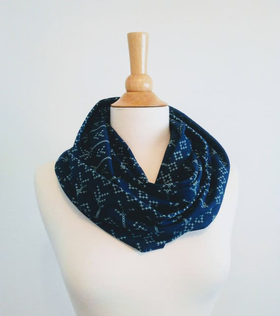 Arrow scarf Navy aqua arrow print infinity scarf blue cotton scarf geometric shapes cotton jersey gift for her mothers day spring scarf