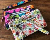 Custom Order for Alyssa - Mini Double Zip Pouches