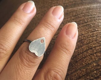 Small Planchette Ring-Sterling Silver-Size 5.25 Ready to ship
