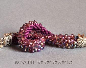 Dragon bracelet in purple