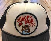 Unisex Infant Trucker Hat- Chop Lpcal Patch- 0-6 Months