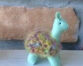 Little green and rainbow alpaca