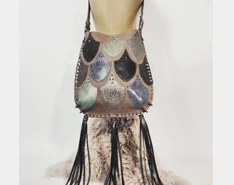 Cloud Colored Three Tassel Mermaid Bag