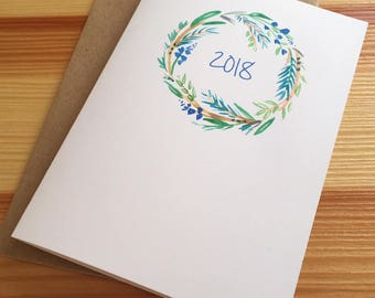 2018 New Year Cards - Watercolor Wreath New Year Cards - Winter Wreath New Year Cards - New Year Cards - Box of 6