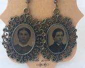 Tintype Photo  Earrings No.6