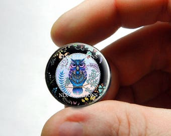Retro Glass Owl Cabochon for Jewelry and Pendant Making - Design 16